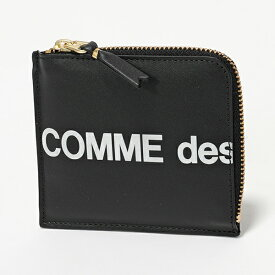 COMME des GARCONS コムデギャルソン SA3100HL HUGE LOGO L字ファスナー コインケース ミニ財布 小銭入れ BLACK メンズ レディース