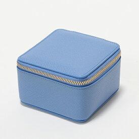 SMYTHSON スマイソン PANAMA MDM TRINKET CASE 1012358 トリンケットケース M レザー×スウェード 小物入れ NILE-BLUE レディース