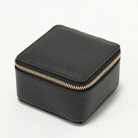 SMYTHSON スマイソン PANAMA MDM TRINKET CASE 1020890 トリンケットケース M レザー×スウェード 小物入れ BLACK メンズ レディース