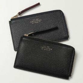 SMYTHSON スマイソン PANAMA 4CC flat coin purse 1023133 レザー カードケース コインケース 小銭入れ ミニ財布 BLACK フラグメントケース メンズ レディース