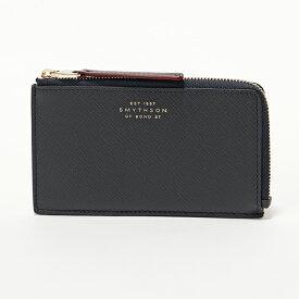 SMYTHSON スマイソン PANAMA 4CC flat coin purse 1023135 レザー カードケース コインケース 小銭入れ ミニ財布 NAVY フラグメントケース メンズ レディース