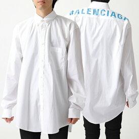 BALENCIAGA バレンシアガ 556878 TEM16 ボタンダウン ロング 長袖シャツ ロゴプリント 9000 メンズ