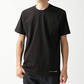 COMME des GARCONS コムデギャルソン W27111 クルーネック 半袖 Tシャツ ワンポイントロゴ カットソー BLACK メンズ