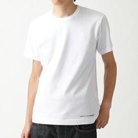 COMME des GARCONS コムデギャルソン W27111 クルーネック 半袖 Tシャツ ワンポイントロゴ カットソー WHITE メンズ