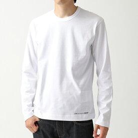 COMME DES GARCONS コムデギャルソン W27110 クルーネック 長袖Tシャツ ロング カットソー ロンT ワンポイントロゴ WHITE メンズ