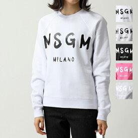 MSGM エムエスジーエム 2541 2741 MDM89 スウェット トレーナー ペイントロゴ 裏起毛 カラー5色 レディース
