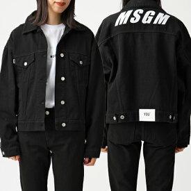 MSGM エムエスジーエム 2741 MDH50TX オーバーサイズ デニムジャケット Gジャン ロゴ 99/ブラック レディース