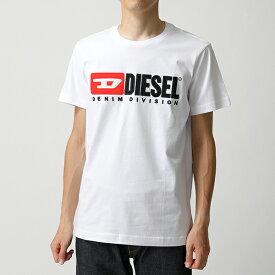 DIESEL ディーゼル 00S1DF 0CATJ T-JUST-DIVISION クルーネック 半袖 Tシャツ カットソー ロゴ刺繍パッチ 100 メンズ