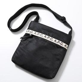 APC A.P.C. アーペーセー PAACL H61384 LZZ saccoche repeat ナイロン サコッシュ メッセンジャーバッグ ショルダーバッグ NOIR 鞄 メンズ
