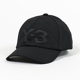 Y-3 ワイスリー adidas アディダス YOHJI YAMAMOTO FH9290 LOGO CAP ロゴ刺繍 ベースボールキャップ 帽子 BLACK メンズ