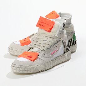 OFF-WHITE オフホワイト VIRGIL ABLOHOMIA065F19800002 0188 レザーコンビ ハイカット スニーカー シューズ ハラコ×ラメ クリアバッグ付き 靴 メンズ