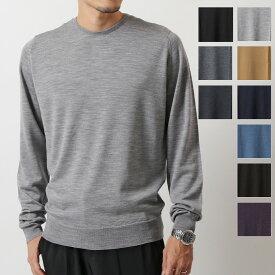 JOHN SMEDLEY ジョンスメドレー LUNDY ランディ STANDARD FIT メリノウール クルーネック ニット セーター カラー8色 メンズ
