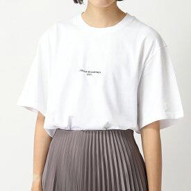 STELLA McCARTNEY ステラマッカートニー 511240 SMW21 9000 クルーネック 半袖 Tシャツ カットソー ちびロゴ レディース