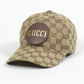 GUCCI グッチ 576253 4HG62 2565 オリジナルGGキャンバス レザーロゴパッチ ベースボールキャップ 帽子 メンズ