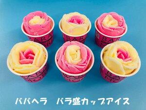 秋田名物 ババヘラ バラ盛カップアイス 6個 (児玉冷菓)【自家用/お試し】