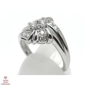 POLA PT900 ダイヤモンドファッションリング #14.5 プラチナ 14.5号【質屋出店】【中古】【レディース】