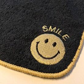ニコ ハンドタオル SMILE NICO 刺繍 ブラック 22×22cm【スマイル/ハンカチ/タオルハンカチ/タオル/ACCENT/アクセント】【楽ギフ_メッセ入力】