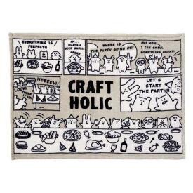 クラフトホリック ブランケット グレー COMI GRAY blanket c3078-90【CRAFTHOLIC/クラフトブランケット/1000円ブランケット/ひざかけ/ひざ掛け/約70×95cm/2018AW】【楽ギフ_メッセ入力】