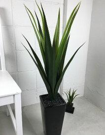 ■メキシカンアロエプラント (造花 観葉植物 インテリア エスニック ブラック シンプル)