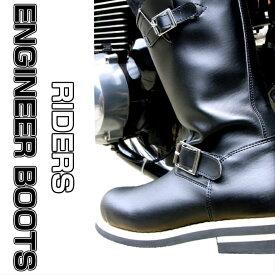 新型 改良版 鉄芯入り【エンジニアブーツ】 【ワークブーツ】【ライダーブーツ】【安全靴】黒色 ワイズ3E 春ブーツ レディースエンジニア 大きいサイズ
