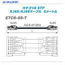 CANARE(カナレ)RJ45ケーブル『ETC6-05-T』【代引き手数料無料♪】