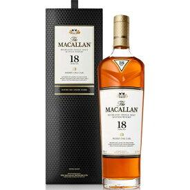 【オフィシャル】 ザ・マッカラン 18年 シェリーオーク 43% 700mlマッカラン MACALLAN スコッチウイスキーシングルモルト スペイサイド TheMACALLAN 18Years sherry