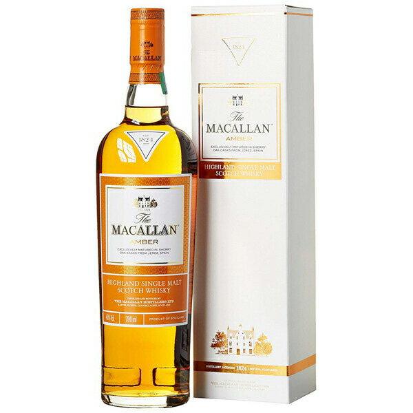 ザ・マッカラン 1824 アンバー 43% 700ml macallan Amberイギリス・スコットランド マッカラン蒸留所 ウイスキー シングルモルト スコッチ 枡屋酒店