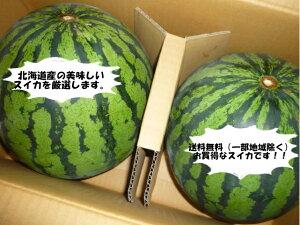 送料無料 北海道産訳あり 大玉 スイカМ〜2Lサイズで1玉当たり4kg以上2玉入りで8kg以上!