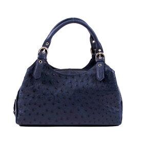 【新品】 オーストリッチ フルポイント 2271 アイリスブルー ハンドバッグ 【H】