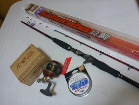 PROX カブラバ真鯛190Lロッド/攻棚浅瀬左ハンドルリール/PE-XX 1.5号ラインセット