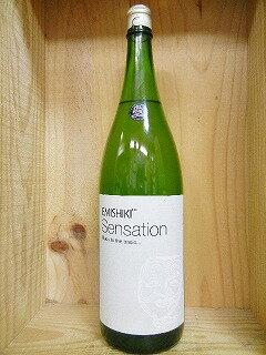 日本酒 Sensation4 white センセーション ホワイト 特別純米酒 白ラベル 辛口1800ml【笑四季酒造】