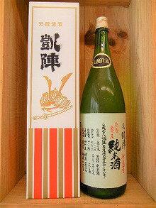 日本酒 悦 凱陣 山廃純米無濾過生原酒 亀の尾(花巻)28byカートン箱入り【丸尾本店】