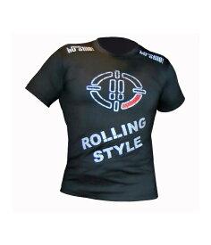 PRICE DOWN !! Ho-Stile[オ・スティーレ]  Tシャツ Rolling Style / ローリング・スタイル(黒) / 総合格闘技 ボクシング キックボクシング ブラジリアン柔術 ユニフォーム トレーニングウェア メンズ ボクシングウェア トレーニングウェア 半袖Tシャツ イタリア