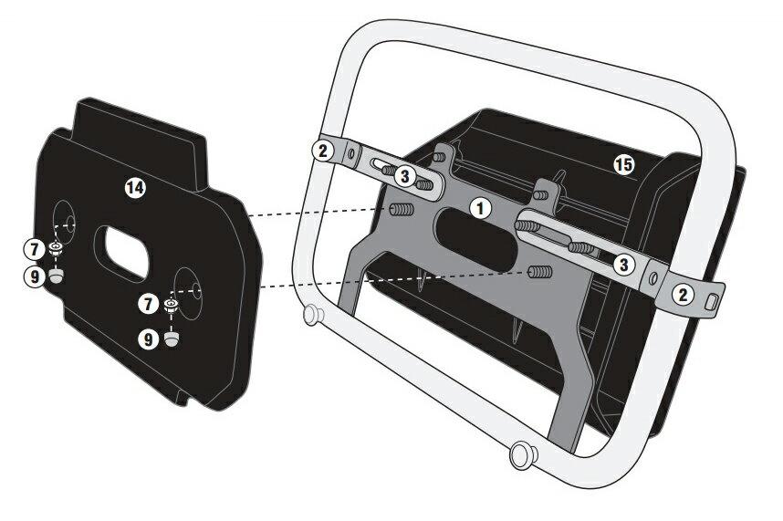 【バイク】【ツールボックス】 GIVI社製 パニアステー併用 ツールボックス 取り付けステー 汎用