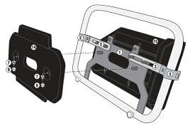 バイク ツールボックス GIVI社製 パニアステー併用 ツールボックス 取り付けステー 汎用