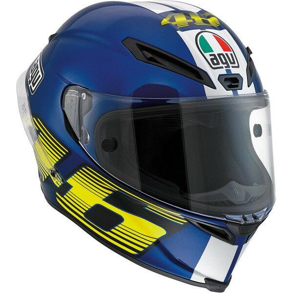 AGV バイク フルフェイス ヘルメット コルサ VR46 ロッシ ブルー