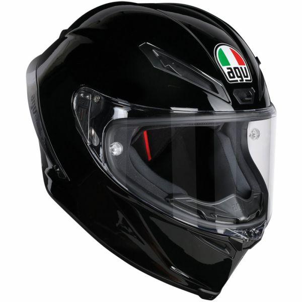 AGV バイク フルフェイス ヘルメット コルサR ソリッド・ブラック 艶有り