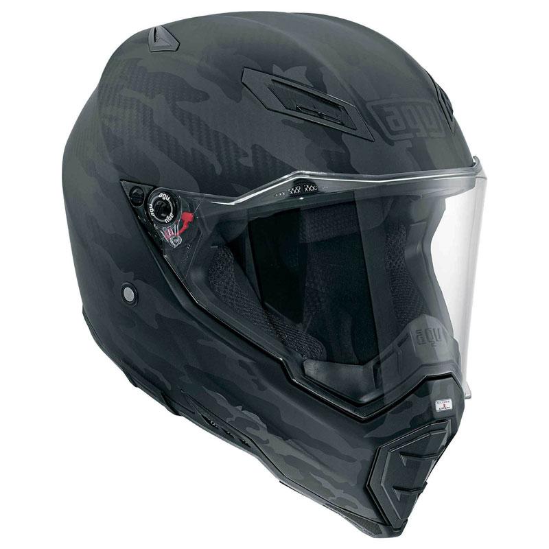 AGV バイク フルフェイス ヘルメット AX-8 ネイキッド Fury マットカーボン 迷彩カラー