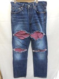FULL COUNT フルカウント ハイドパッチデニム Size32 1434HW メンズ パンツ【中古】
