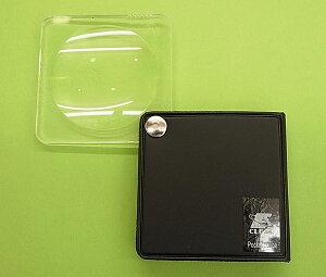 【虫眼鏡】ポケットルーペ 3.5倍 L450N-BK(ブラック) レンズ径45mm 地図の確認、アンティーク鑑定、自然動植物観察に