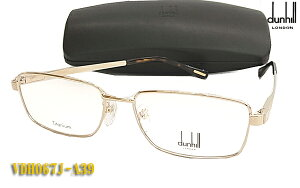 【dunhill】ダンヒル 眼鏡 メガネ フレーム VDH067J-A39 ゴールド スリム バネ丁番 (度入り対応/フィット調整可 送料無料【smtb-KD】
