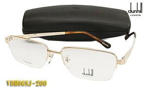 【dunhill】ダンヒル 眼鏡 メガネ フレーム VDH068J-200 ゴールド スリム バネ丁番 (度入り対応/フィット調整可 送料無料【smtb-KD】