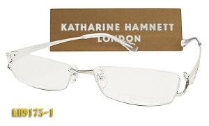 【KATHARINE HAMNETT】 キャサリン・ハムネット 眼鏡 メガネ フレーム KH9175-1 アンダーリム 日本製 チタン(度入り対応/フィット調整対応/送料無料!【smtb-KD】
