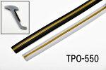 【TPO-550】エアロのすき間に!エアロパーツプロテクターモール黒・グレーの中から選べます!