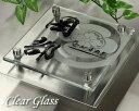 表札 ガラス 透明 家紋制作代込み ステンレスプレート付GK150cf-11kamon
