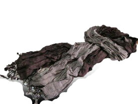 ◆新品 アトリエサブ  ストール147白黒■e0121147小物