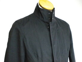 新品 ♪★ ハムネット HAMNETT スタンドカラー ジャケット 比翼 ショートコート ブラック 黒  メンズ  男性用 サイズM ★ 19106