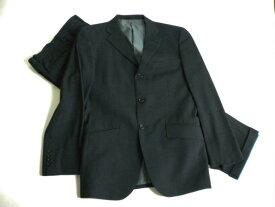 美品 ★ ボイコット BOYCOTT シングル スーツ グレー チェック柄 3ボタン サイドベンド サイズM 18213