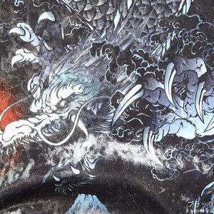2018年秋冬物新作【ビッグ有】絡繰魂/カラクリ魂/からくり魂【送料無料】闇夜翔ける龍神和柄光沢ベロアブルゾン/スカジャン黒×袖グレーM/L/XL/XXL【smtb-k】【ky】父の日【YDKG-k】メンズ【ky】ギフト【RCP】283830