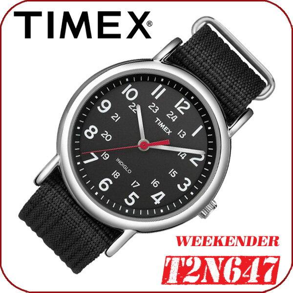 TIMEX【T2N647】WEEKENDER CENTRAL PARK FULL SIZE 38mm径 タイメックス ウィークエンダー セントラルパーク メンズ クォーツ腕時計 ナイロンベルト ブラック 並行輸入【新品】『宅配便』で全国*送料無料*